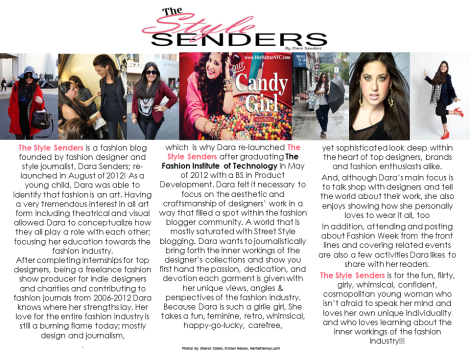 The Style Senders Media Kit 2013