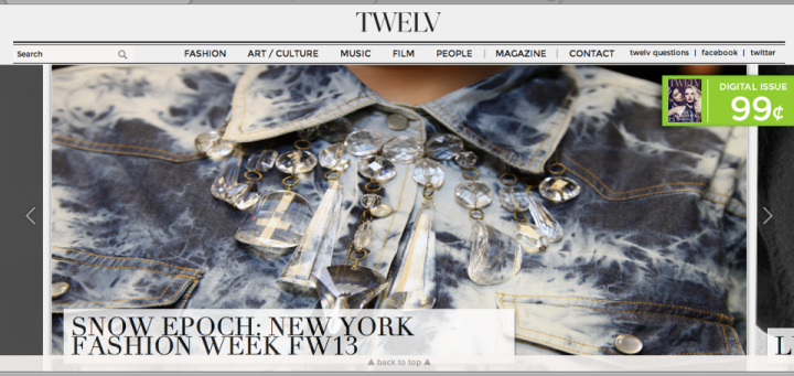 PUBLISHED ON TWELV MAGAZINE