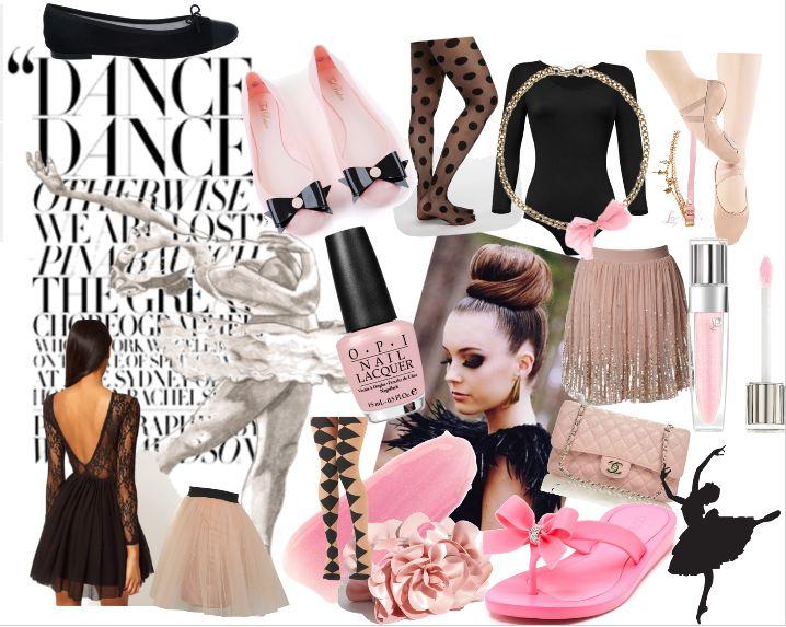 à la mode, rose et noirBallerina