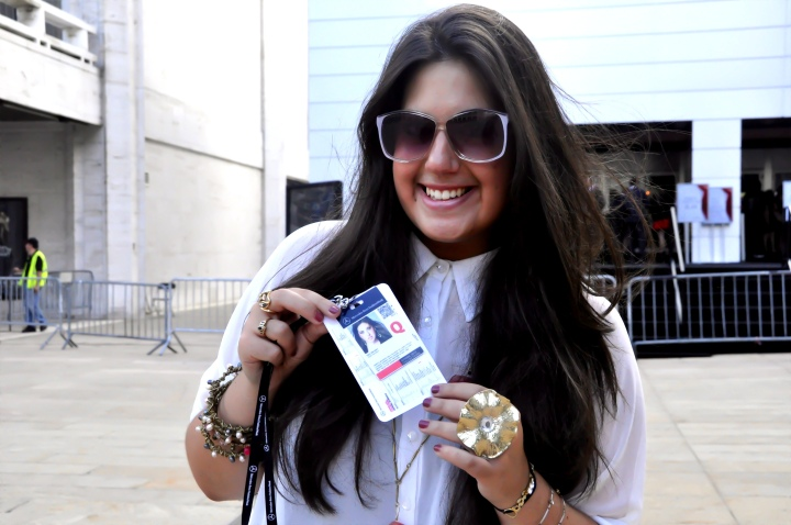 MBFW SPRING 2013- THE PICKING UP OF THE PRESS PASS!!