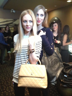 Chiara Ferragni of The Blond Salad and Shea Marie of Peace Love Shea