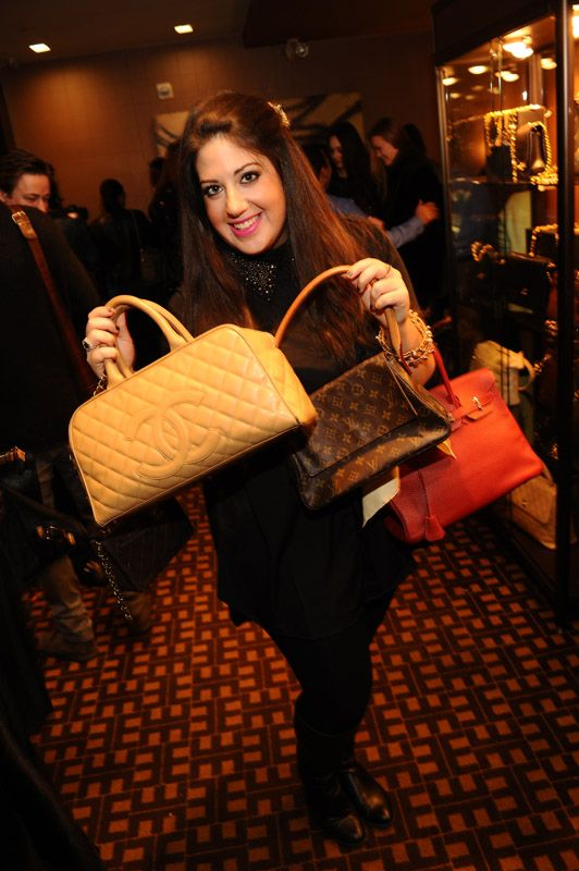 Having so much fun, just pilin' on the vintage Chanel, LV,Hermes...Oh My! Getty Images