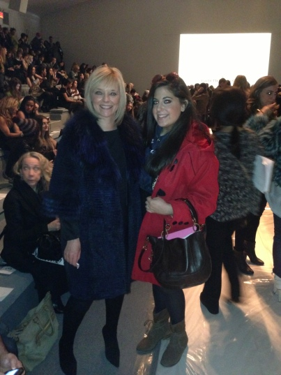 With Avril Graham from Harper's bazaar