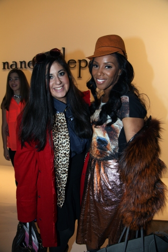 With Stylist June Ambrose
