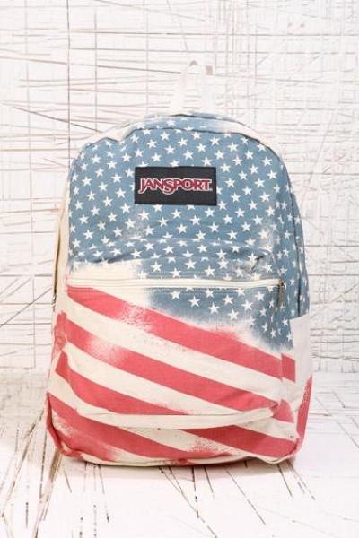 JanSport Super FX Series Backpack in Flag Print