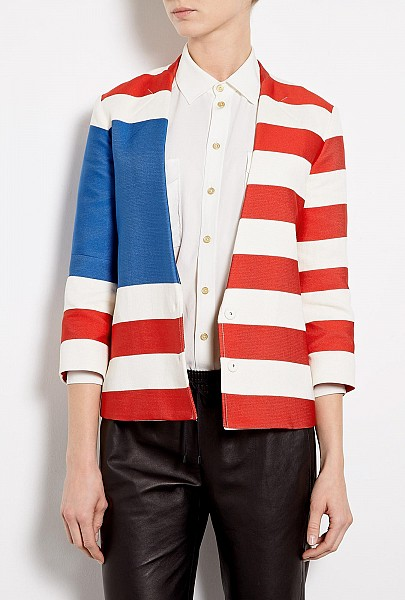 Journey Flag Cotton Jacket by Acne $435.00