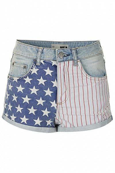 MOTO Bleach Flag Hotpants $56.00