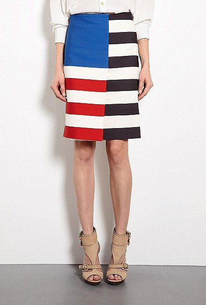 Acne - Layla Flag Colour Block Skirt by Acne $245.00