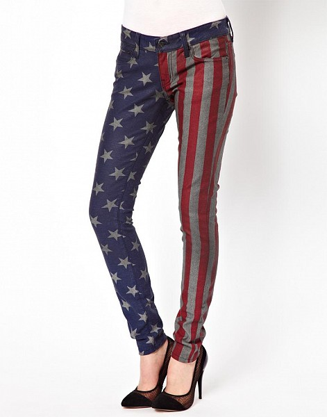 Kill City American Flag Skinny Jeans $84.85