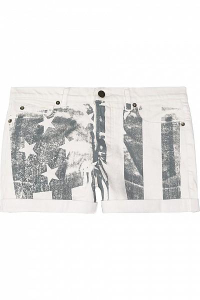 Haute Hippie American flag-print stretch-denim shorts $85.00