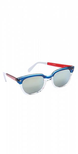 Sheriff&Cherry Americana Mirrored Sunglasses $145.00