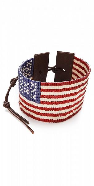 Chan Luu American Flag Bracelet $190.00
