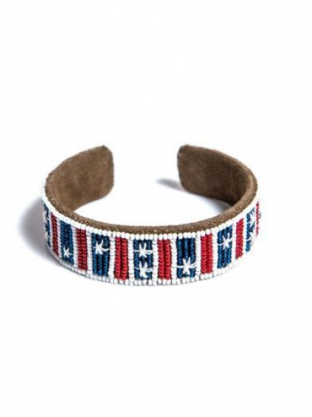 Isabel Marant  RED WHITE BLUE Beaded Bracelet $121.00