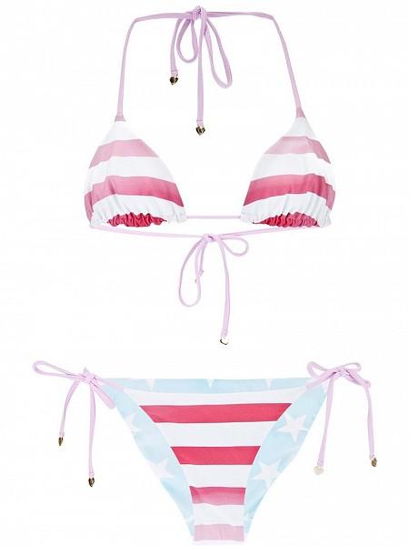WILDFOX flap print bikini $164.12