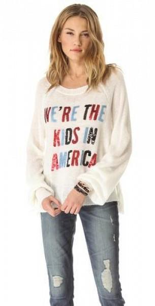 Wildfox American Kids Sweater $138.6