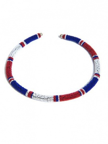 Isabel Marant RED WHITE BLUE Necklace $219.00