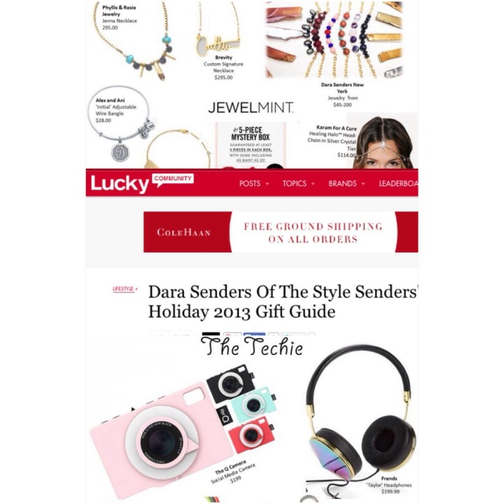 LUCKYMAG.COM – DARA SENDERS OF THE STYLE SENDERS 2013 HOLIDAY GIFT GUIDE