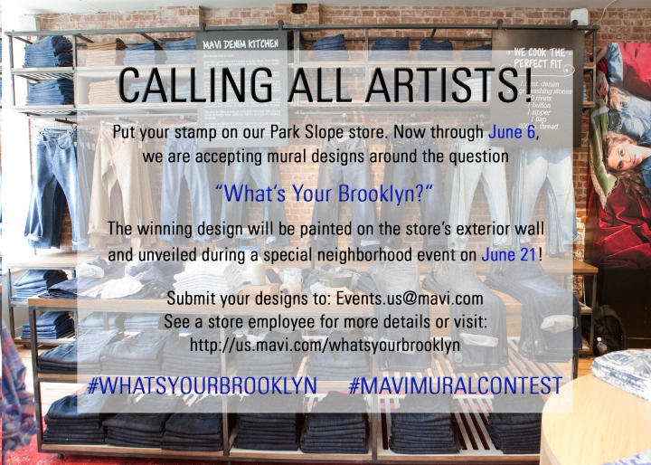 "MAVI JEANS: ""WHAT'S YOUR BROOKLYN"" ART COMPETITION"