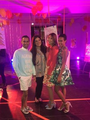 Rubin Farjado, Dara Senders, Sabrina Poon, and Martha Luna Medina at Agatha Ruis de la Prada event