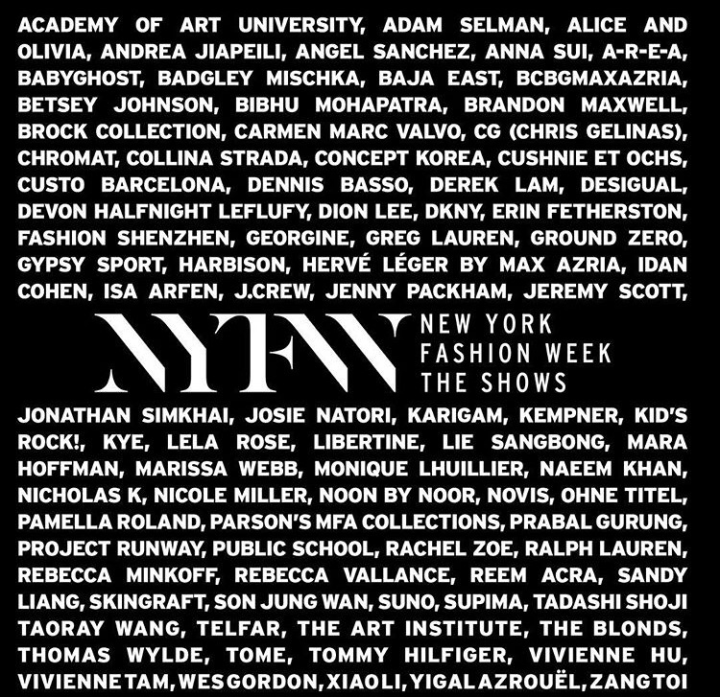 THE NEW NEW YORK FASHION WEEK & LINE UP!