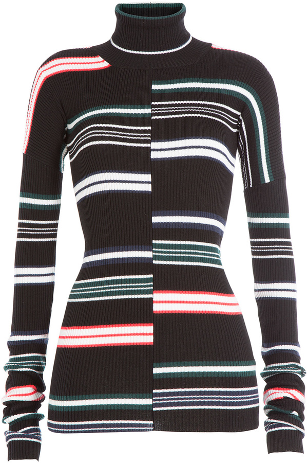 Kenzo Striped turtleneck sweater