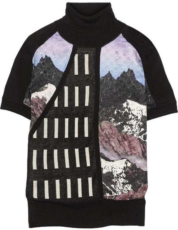 Peter Pilotto Alik silk-paneled silk-blend jersey top