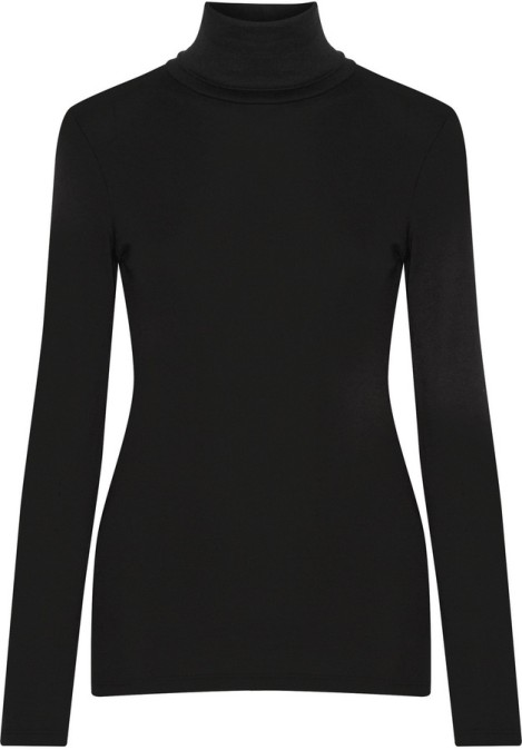 Splendid Supima Cotton and Micro Modal-Blend Turtleneck Top