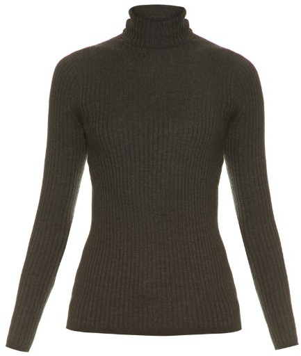 VINCE Roll-neck ribbed-knit sweater