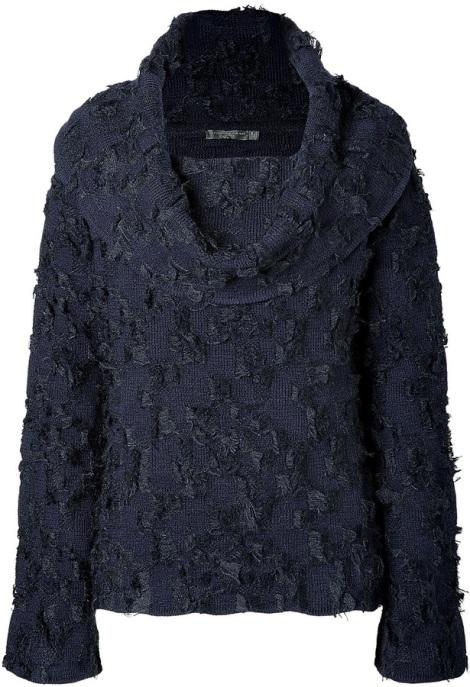 Donna Karan New York Wool-Mohair Off-the-Shoulder Pullover