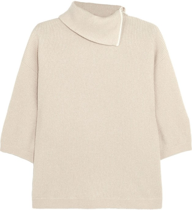 Brunello Cucinelli Zip-Detailed Cashmere-Blend Turtleneck Sweater