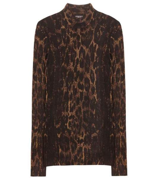 Tom Ford Printed turtleneck sweater