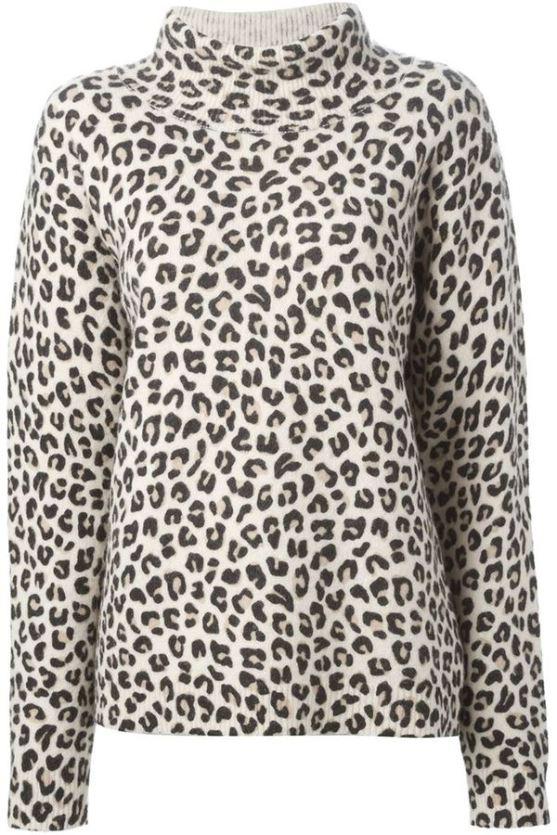 DKNY leopard print sweater