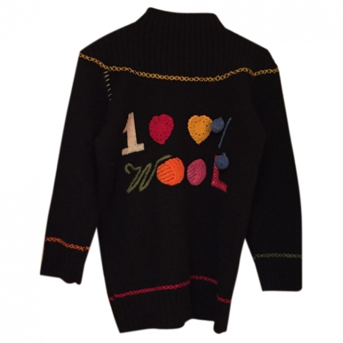 MOSCHINO CHEAP AND CHIC Black Wool Knitwear