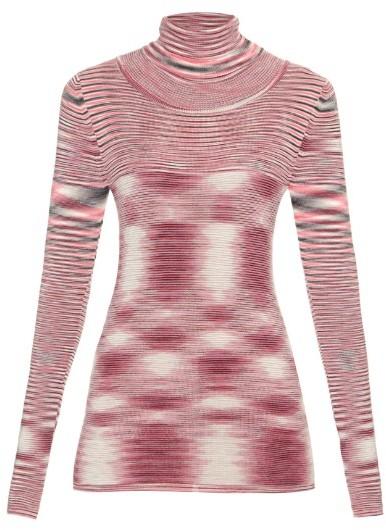 MISSONI Roll-neck striped wool sweater
