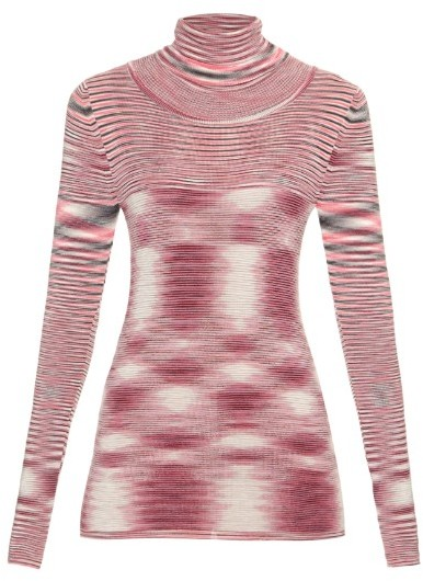 MISSONI Roll-neck striped wool sweater