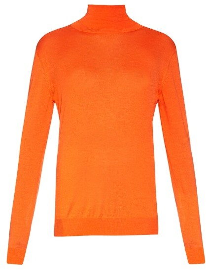 STELLA MCCARTNEY Roll-neck wool and silk-blend knit sweater