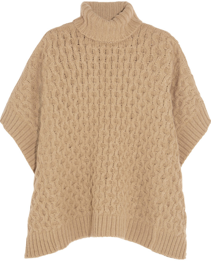 MICHAEL Michael Kors Cable-Knit Turtleneck Poncho