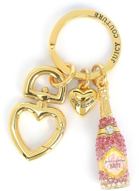 JUICY COUTURE - Pink Champagne Keyfob