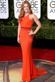 Amy Adams In Atelier Versace with Salvatore Ferragamo clutch and Jimmy Choo shoes