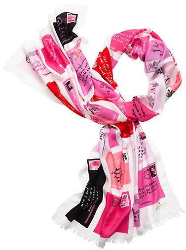 KATE SPADE - Love letters oblong scarf