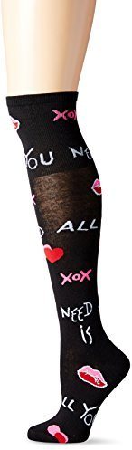 Betsey Johnson Women's All You Need Is Love Over The Knee Sock