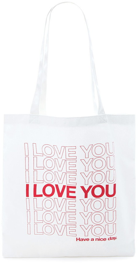 FOREVER 21 I Love You Graphic Tote