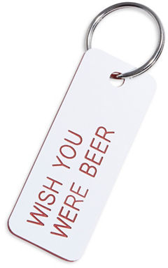 Various Keytags Llc Wish You Were Beer Keytag