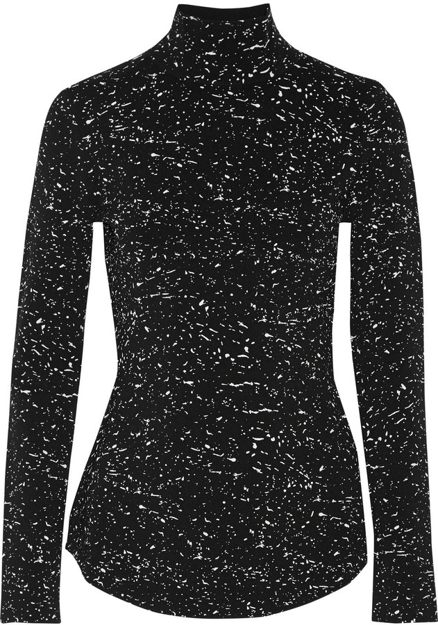 Proenza Schouler Printed jersey turtleneck top