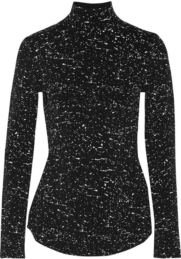Proenza Schouler Printed jersey turtleneck top