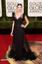 Caitriona Balfe In Alexander McQueen dress and Fred Leighton jewelry.