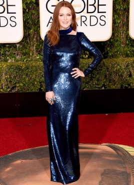 Julianne Moore In Tom Ford dress and Chopard jewelry.